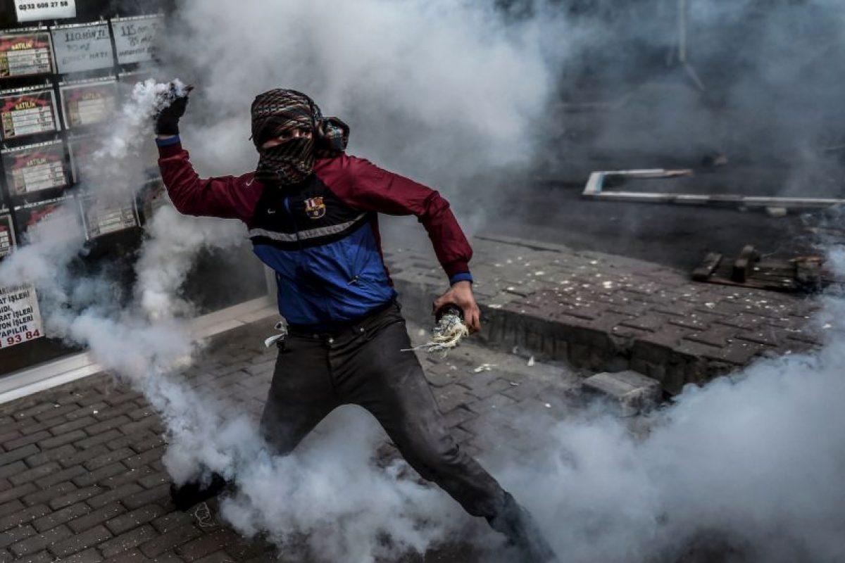 Militante kurdo en Turquía. Foto:AFP