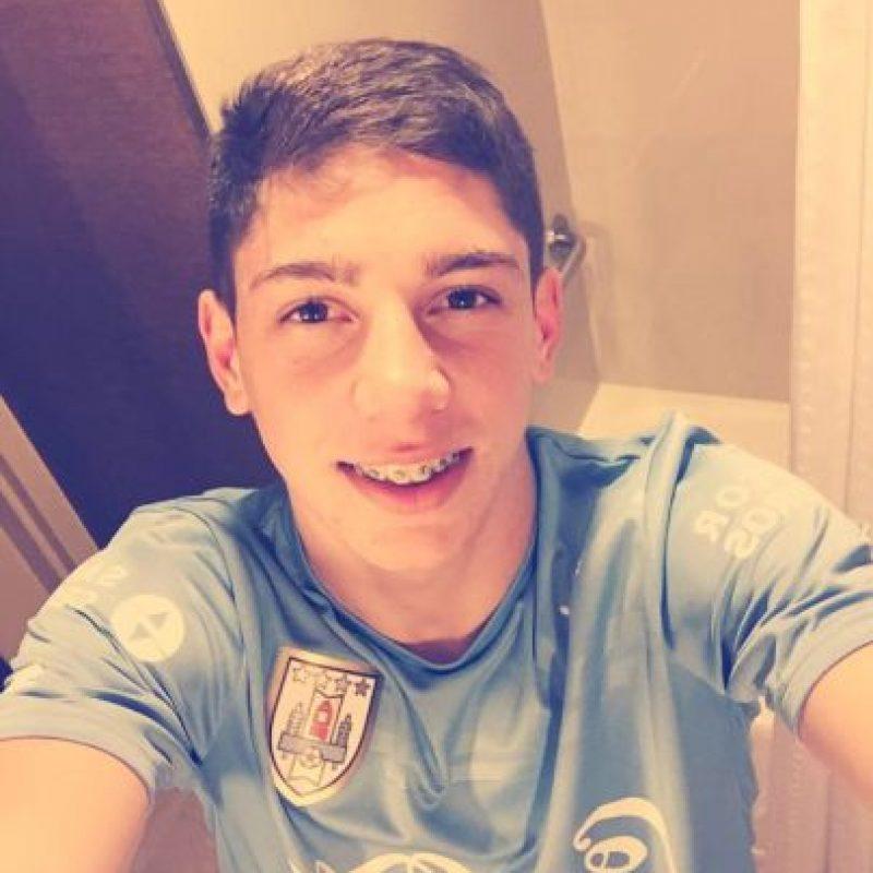 Federico Valverde es un futbolista uruguayo de 17 años. Foto:Vía facebook.com/TuyYoJuntosFede10