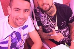 """El """"Rey Arturo"""" protagonizó el escándalo más grande de los primeros días de la Copa América 2015. Foto:Vía twitter.com/KingArturo23"""