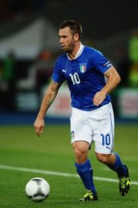 11- Antonio Cassano, futbolista italiano que ha pasado por el Real Madrid. Foto: Getty Images