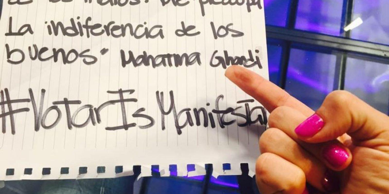 Se dio a conocer por un discurso que dio en el Parlamento Iberoamericano de la Juventud, en Zaragoza, España, en 2014 Foto:Facebook.com/GloriaAlvarez