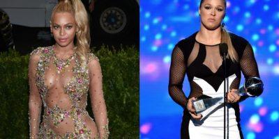 Beyoncé le rindió un homenaje a Ronda Rousey. Foto:Getty Images