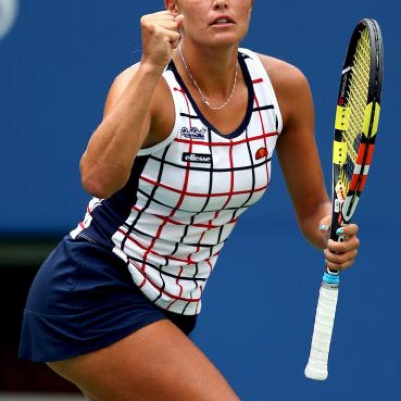 La puertorriqueña lució un bonito uniforme, lamentablemente fue eliminada en primera ronda por Venus Williams en un disputado encuentro. Foto:Getty Images