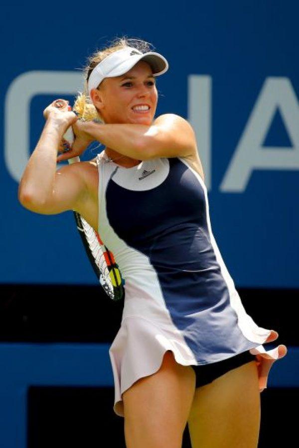 La danesa usó este vestido durante su corta estancia en el US Open. Foto:Getty Images