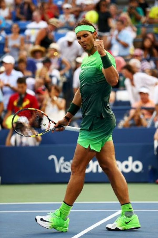 El español deslumbró con este conjunto verde en el partido de segunda ronda ante Diego Schwartzman. Foto:Getty Images