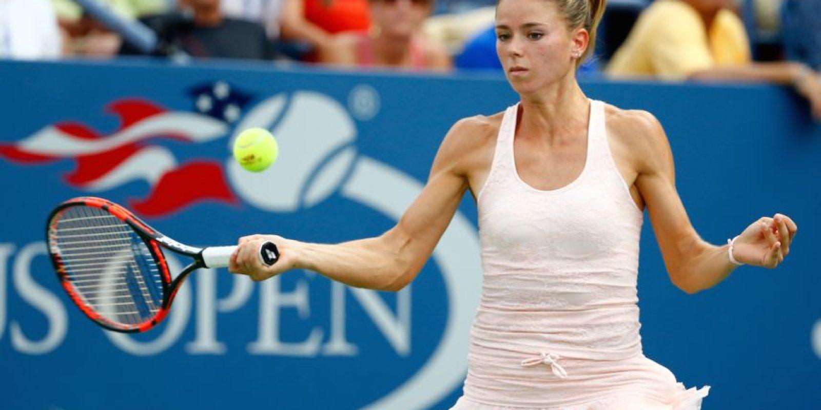 """La italiana lució este conjunto muy """"tierno"""" en su partido de segunda ronda frente a Sabine Lisicki. Foto:Getty Images"""