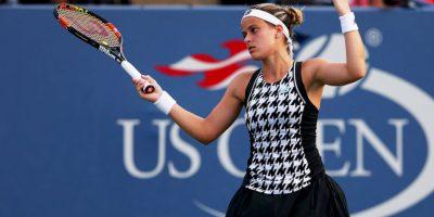 La estadounidense lució este vistoso diseño en el partido de segunda ronda ante Petra Kvitova. Foto:Getty Images
