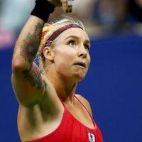 """""""A lo colegiala""""; así salió la estadounidense al partido de tercera ronda frente a Serena Williams. Foto:Getty Images"""