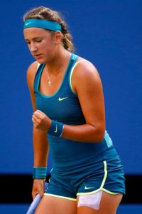 """La carismática """"Vika"""" dejó sin palabras a muchos aficionados con el short que ha lucido en todo el torneo, el cual ha sido muy comentado en redes sociales. Foto:Getty Images"""