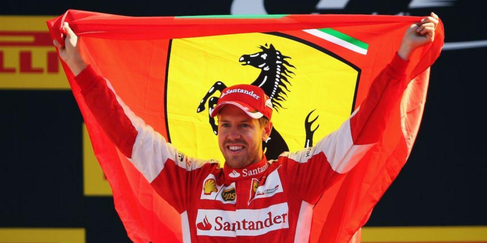 3. Sebastian Vettel (Ferrari) = 178 puntos. Foto:Getty Images