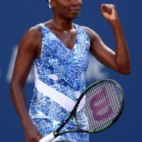 La mayor de las hermanas Williams escogió este vestido para sus primeros partidos en el US Open. Foto:Getty Images