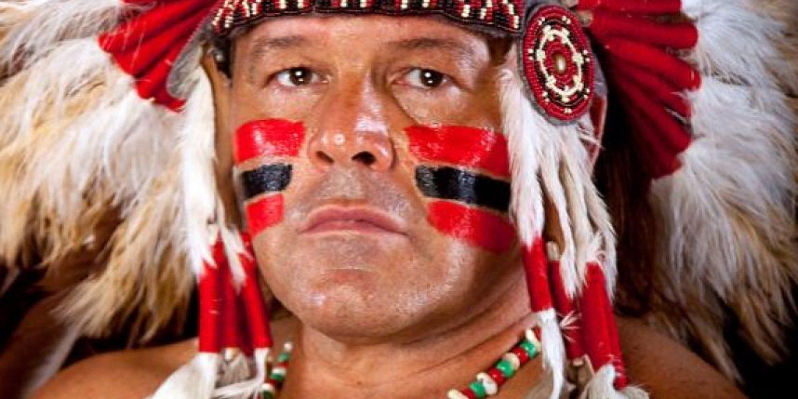 Era un nativo estadounidense que se pintaba la cara Foto:WWE