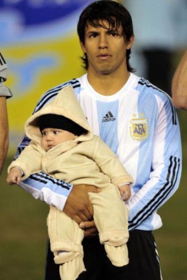 """Es hijo de Giannina Maradona y el futbolista Sergio """"Kun"""" Agüero. Foto:Getty Images"""
