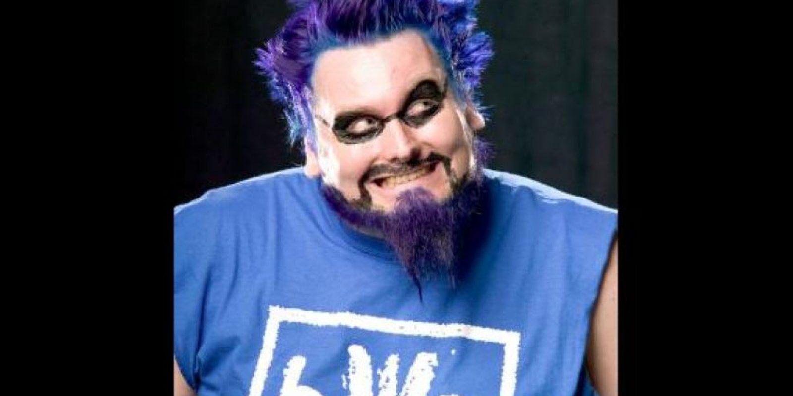 The Blue Manie se pintaba también la barba y el cabello Foto:WWE