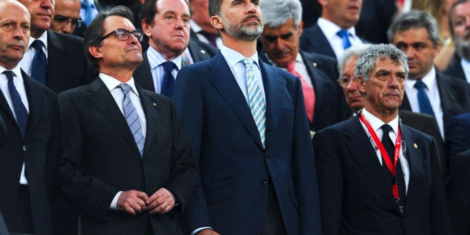En la final de la Copa del Rey 2015, entre Barcelona y Athletic de Bilbao, en el Camp Nou, el himno español recibió una fuerte abucheada. Foto:Getty Images