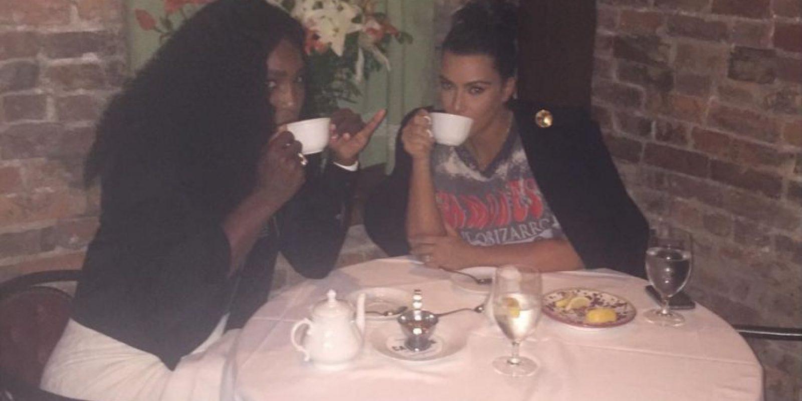 """""""Delicioso té"""", posteó la tenista número uno del mundo Foto:Vía instagram.com/serenawilliams"""