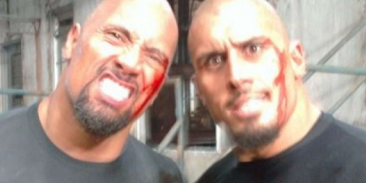 Son idénticos: El doble de acción de Dwayne  Johnson