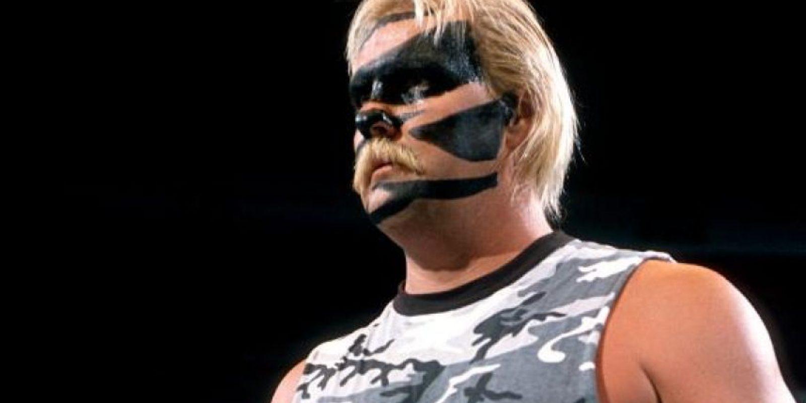Usaba pintura de camuflaje Foto:WWE