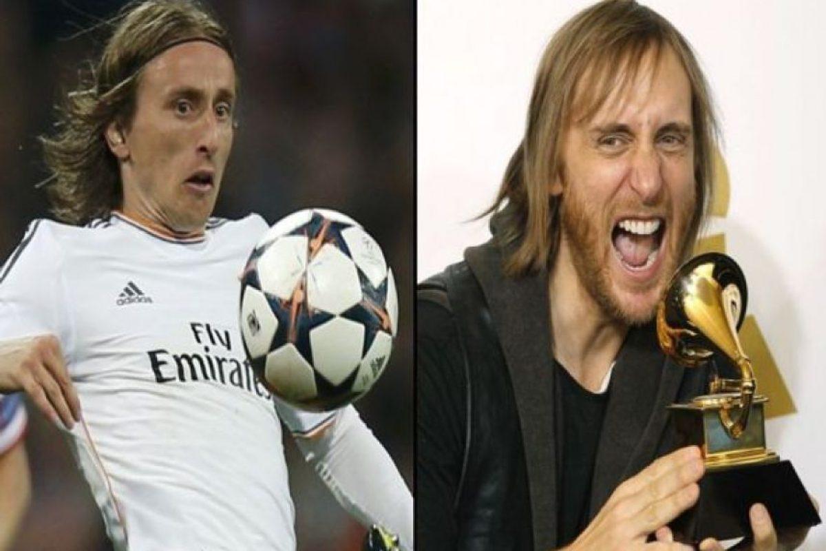 El croata Luka Modric y el DJ David Guetta Foto:Twitter