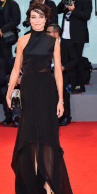 No es el mejor vestido negro que se ha visto en el Festival. Foto:vía Getty Images