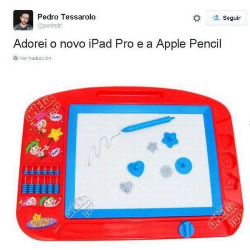 """Adoro el nuevo iPad Pro y Apple Pencil"" Foto: Twitter"