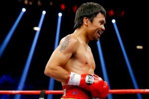 """""""Manny es un tremendo boxeador. Ahora sé porque es el gran peleador que todo mundo ha dicho"""", declaró Mayweather después del combate. Foto:Getty Images"""