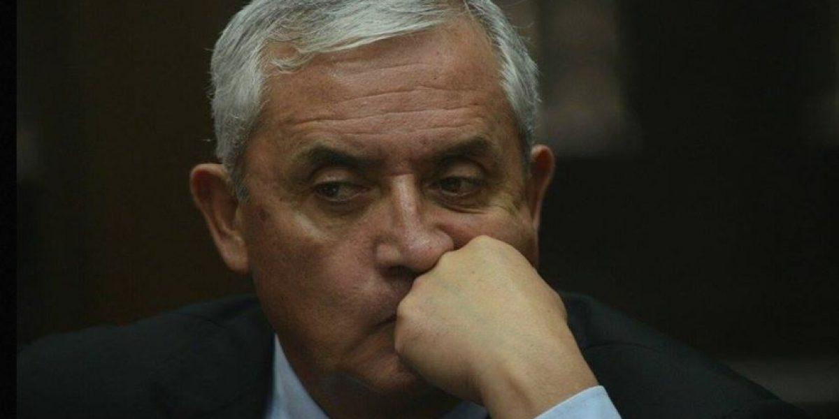 Expresidente Otto Pérez no podrá utilizar Q5.2 millones de seis cuentas bancarias
