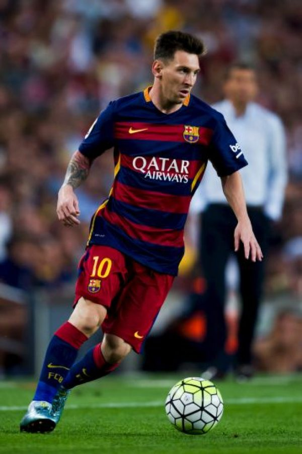 """El mejor equipo del mundo según el """"Club World Ranking"""" tiene en Lionel Messi a su símbolo. La """"Pulga"""" vale 120 millones de euros. Foto:Getty Images"""