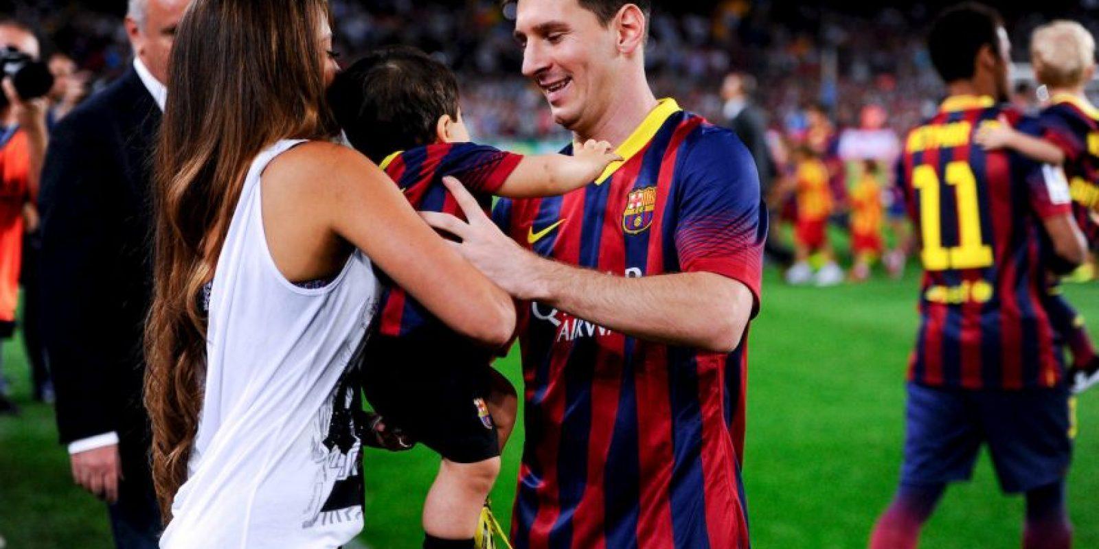 Antonella Roccuzzo dio a luz a Mateo Foto:Getty Images