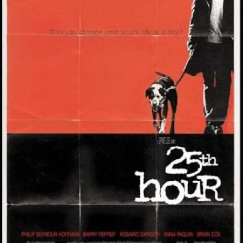"""""""25th hour"""" (2002). Dirigida por Spike Lee y con la actuación de Edward Norton, retrata los días posteriores al atentado. Foto:Impawards.com"""