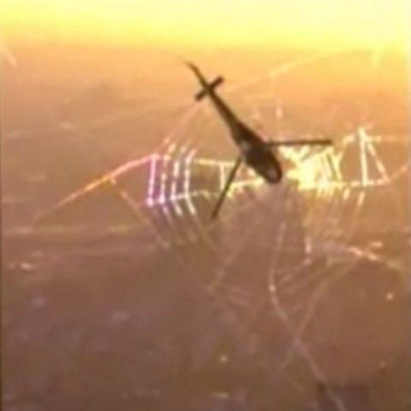 Spiderman hacía una telaraña entre las torres Foto Foto:YouTube