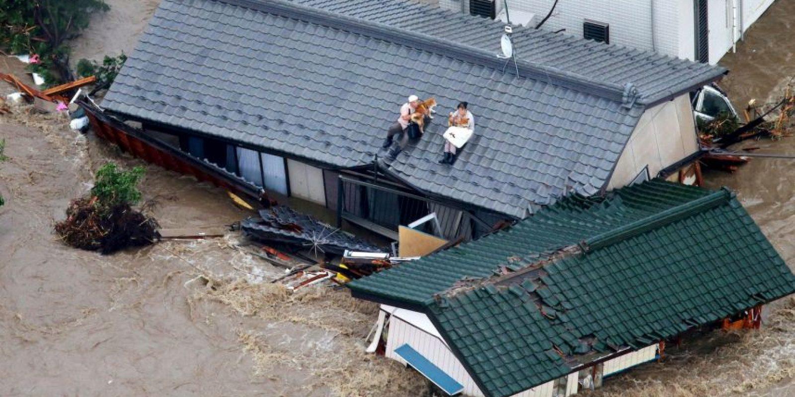 Se produjeron grandes inundaciones en el país Foto:AP