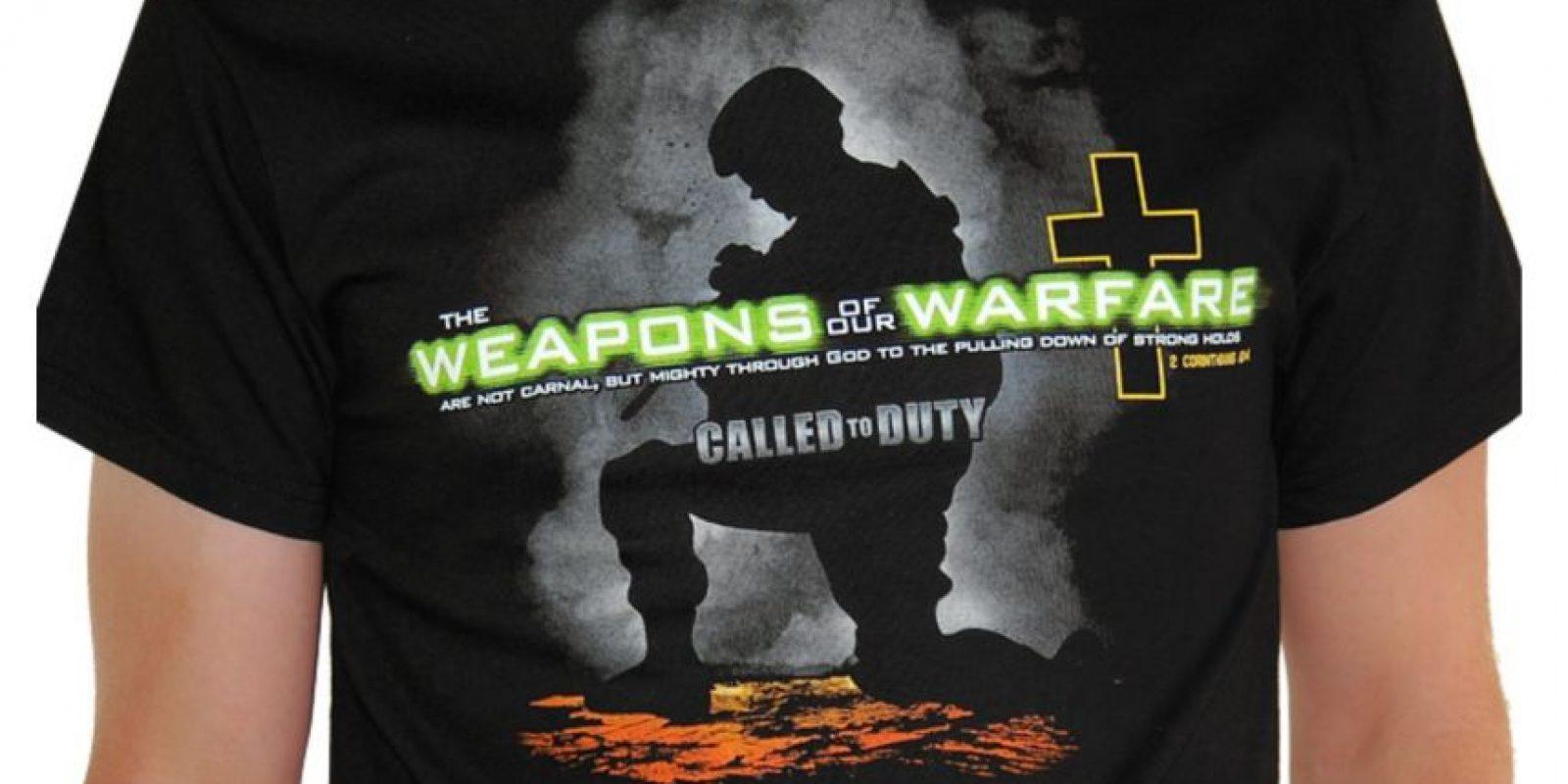 """""""The weapons of our warfare"""" (Las armas de nuestra milicia) Un claro mensaje bélico como propaganda para un videojuego Foto:Vía """"gameinformer.com"""""""