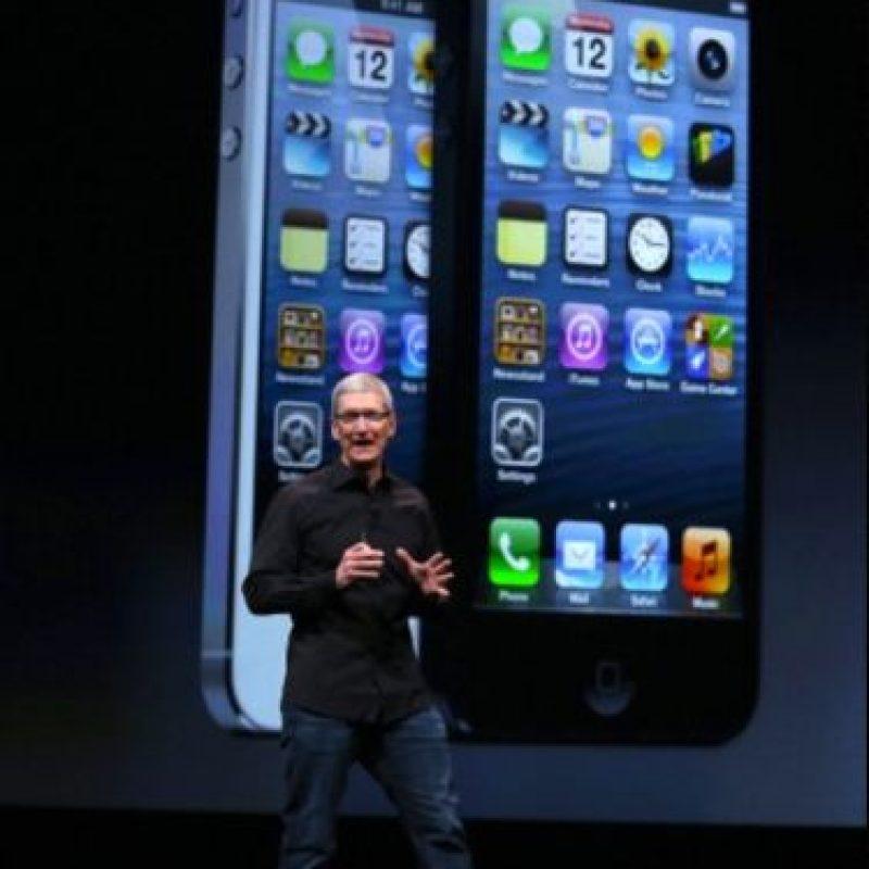Tim Cook en la presentación del iPhone 5 el 12 de septiembre de 2012 Foto:Getty Images