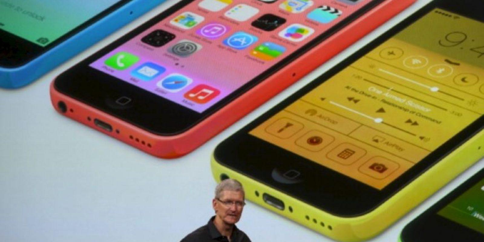 Tim Cook en la presentación del iPhone 5s y iPhone 5c el 10 de septiembre de 2013 Foto:Getty Images
