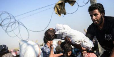 La salida de los sirios del país ha creado una crisis humanitaria. Foto:AFP
