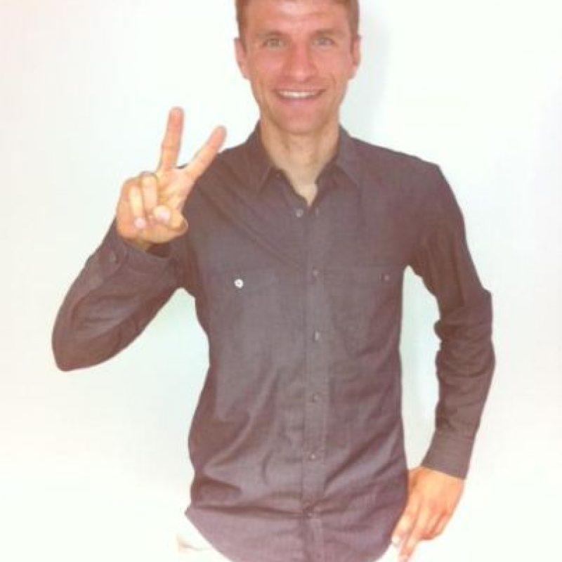 Thomas Muller es un futbolista alemán de 26 años. Juega en el Bayern Munich como delantero. Foto:Vía twitter.com/esmuellert_