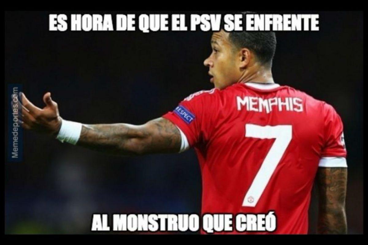 "PSV, equipo del que salió Memphis Depay, figura actual de los ""Red Devils"". Foto:memedeportes.com"