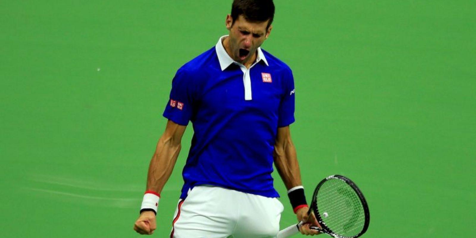 """Tuvo un 2015 avasallador. """"Nole"""" triunfó en tres de los cuatro Grand Slam del año, Australia Open, Wimbledon y US Open, venció dos veces a Roger Federer con autoridad y es el número 1 del mundo. Foto:Getty Images"""