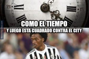 Al igual que el colombiano Cuadrado, que también dio partidazo. Foto:memedeportes.com
