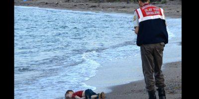 La muerte de su hijo menor se dio a conocer después de esta fotografía. Foto:AFP