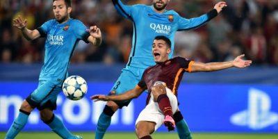 El duelo en el Olímpico de Roma terminó con un empate entre los de casa y el cuadro azulgrana. Foto:AFP
