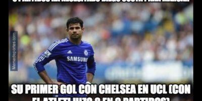 La buena: Diego Costa por fin anotó en Champions League. Foto:memedeportes.com