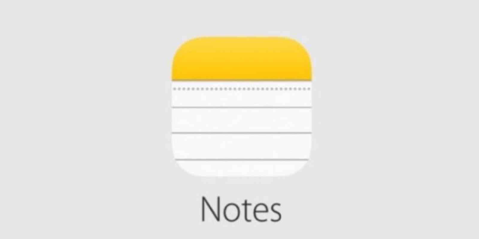 Notes tiene nuevas características. Foto:Apple