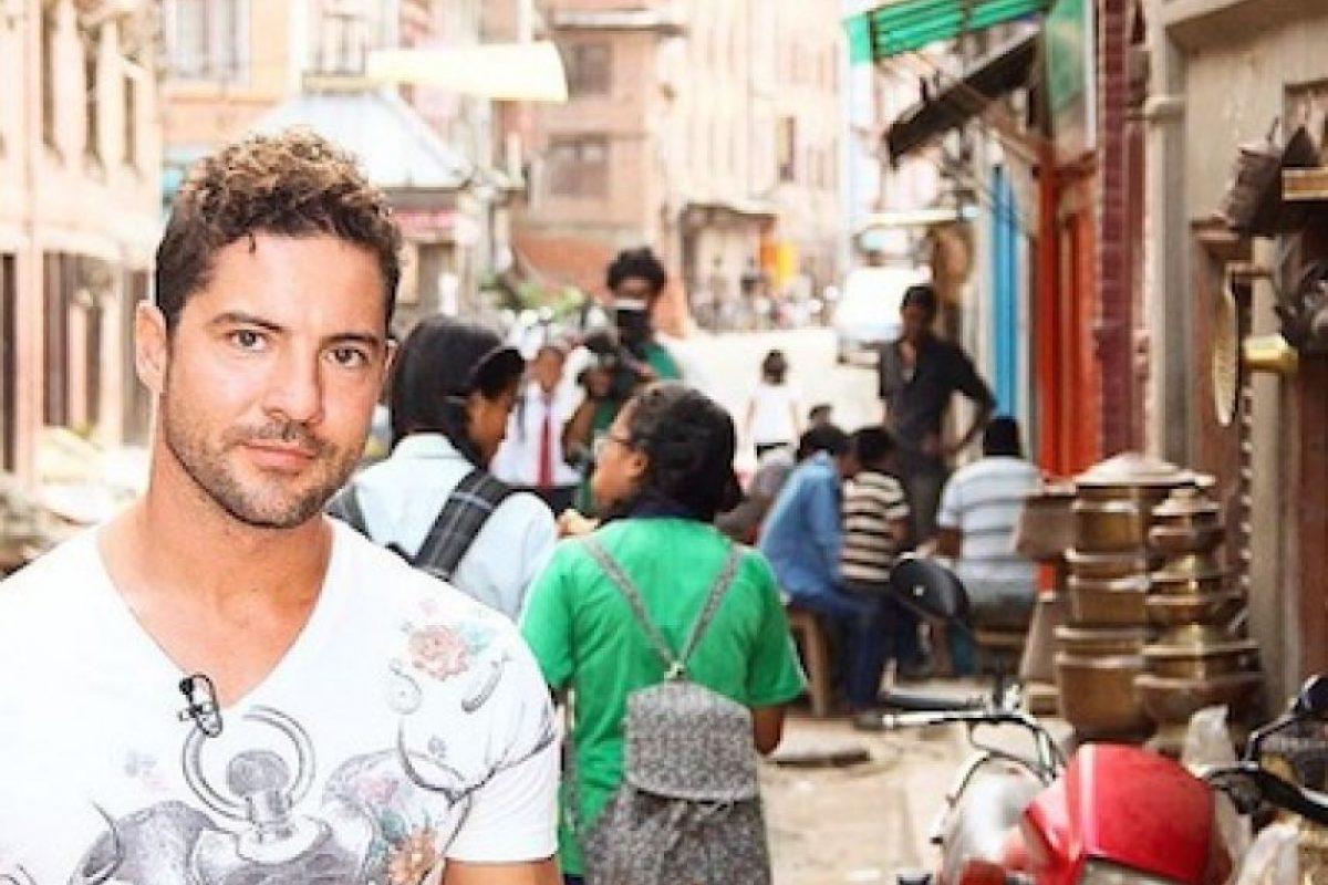 David Bisbal viajó a Nepal para apoyar la reconstrucción de más de 370 viviendas en el país asiático. Foto:Instagram/DavidBisbal