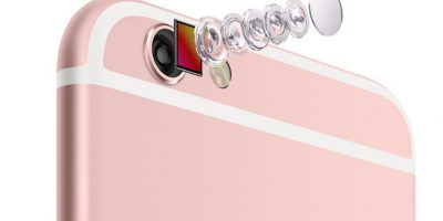 Los lentes de la cámara posterior de 12 megapíxeles. Foto:Apple