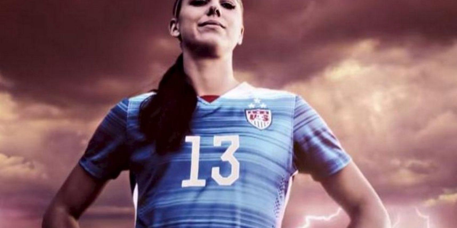 """Alex Morgan, una de las estrellas del """"FIFA 16"""". Foto:EA Sports"""