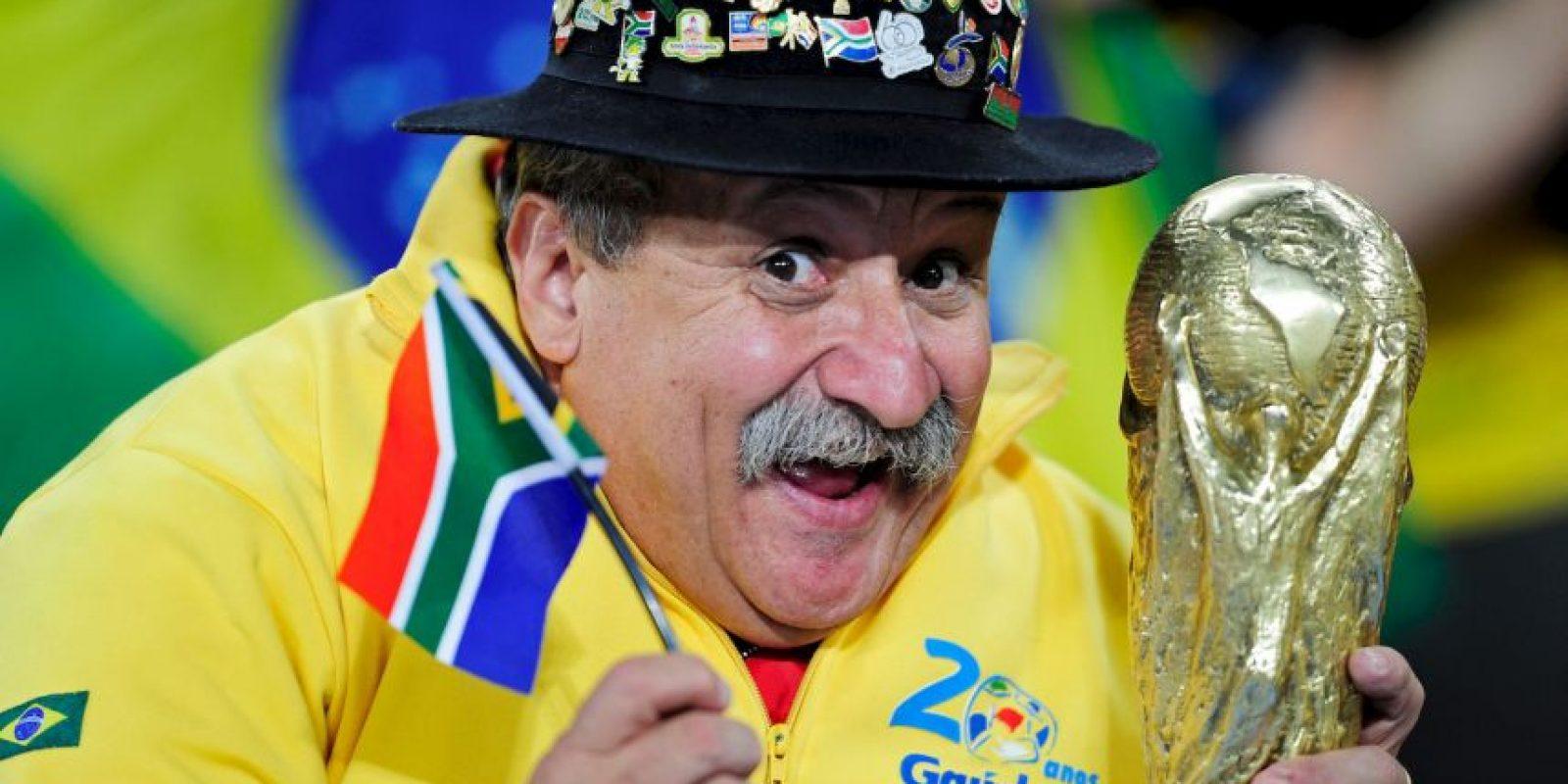 """También viajó a Sudáfrica para alentar a la """"canarinha"""" en el Mundial de 2010. Foto:Getty Images"""