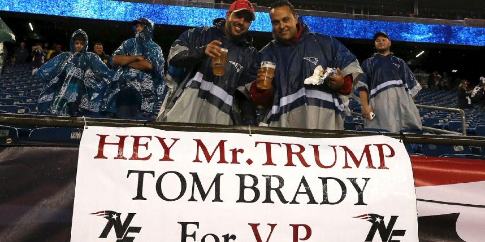 Previo al arranque de la NFL, una imagen del vestidor de Tom Brady, mariscal de campo de los New England Patriots se hizo viral. Foto:Getty Images
