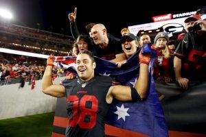 Este lunes, los San Francisco 49ers vencieron a domicilio a los Minnesota Vikings por marcador 20-3. Foto:Getty Images